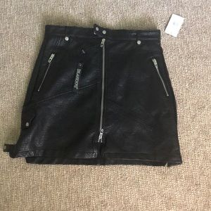 New with tags leather skirt